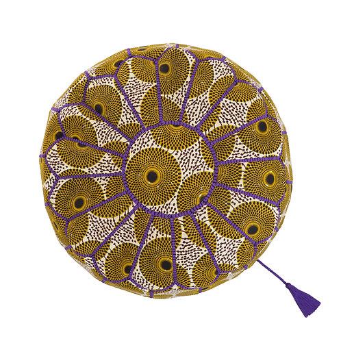 世界の布で作るプフ〈アフリカン・ワックス〉from モロッコ・マラケシュ