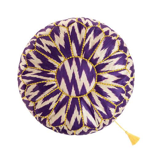 世界の布で作るプフ〈ウズベキスタンのイカット〉from モロッコ・マラケシュ