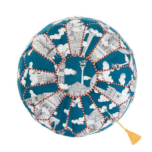 世界の布で作るプフ〈トワル・ドゥ・ジュイ〉from モロッコ・マラケシュ