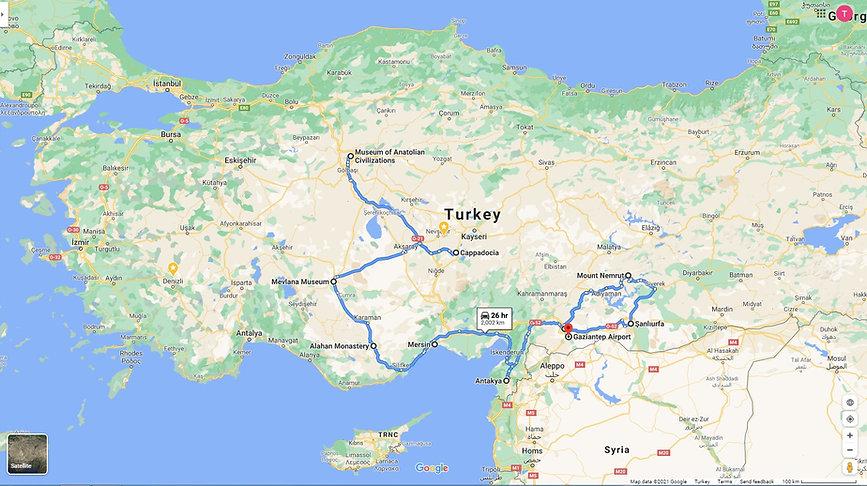 ANKARA – CAPPADOCIA-CILICA -SOUTH EAST (