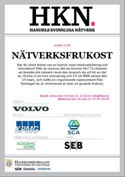 Nätverksfrukost VT 2014