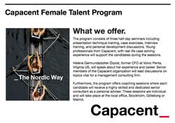 CAPACENT female talent
