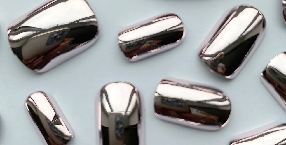 Metallic (Lilac) press on nails
