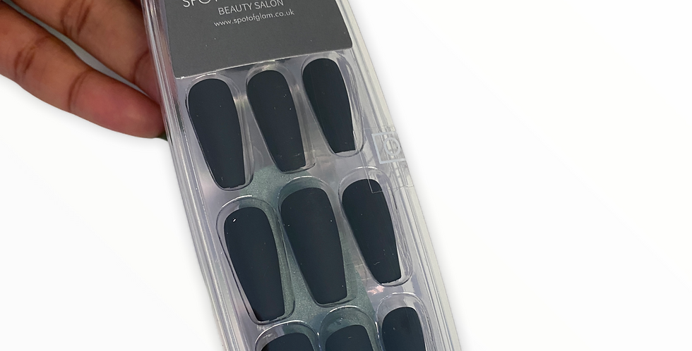 Black Matte Press-On Nails