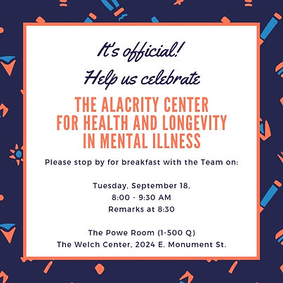 News | The ALACRITY Center for Health and Longevity in Mental Illness