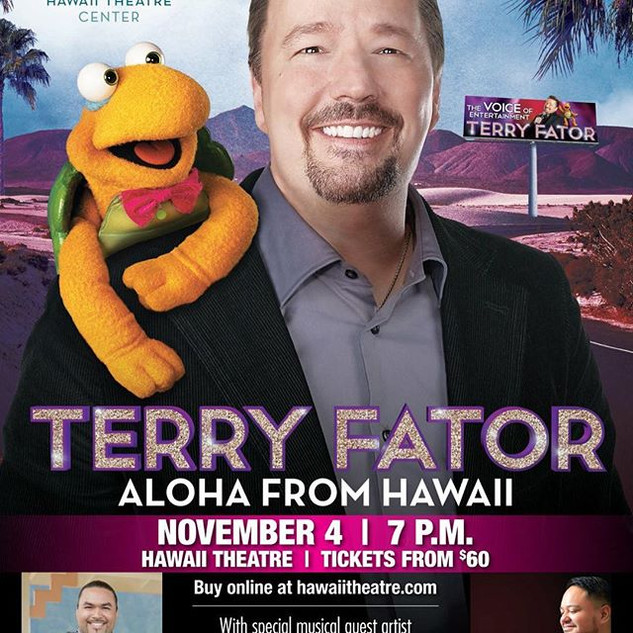 Opening act for the amazing Terry Fator.