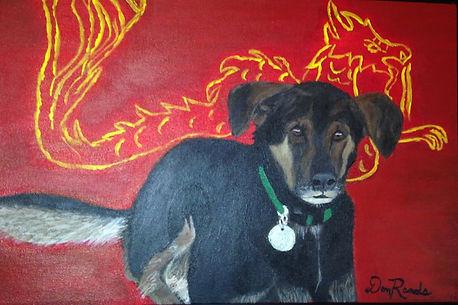 Don Rands' portrait of Dragon