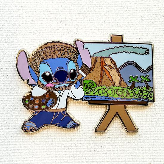 Stitch's Live Invasion: Bob Ross Stitch - Artist Proof - LE-5