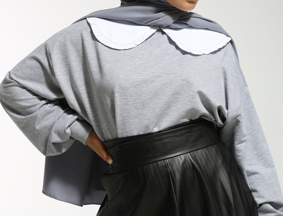 Long Sweatshirt Gris