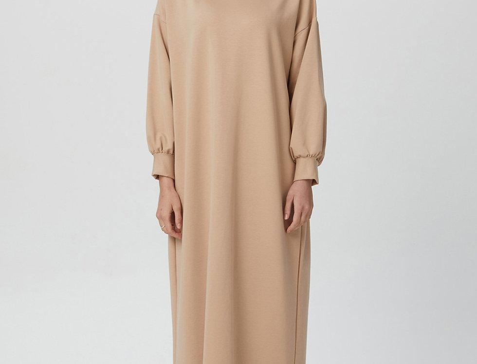 Robe Cotton L'effleure Camel