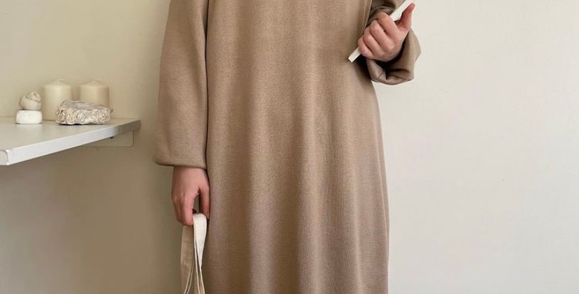 Robe Tricot Camel