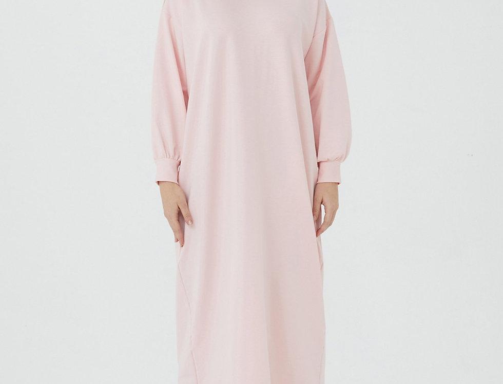 Robe Cotton L'effleure Rose Poudre