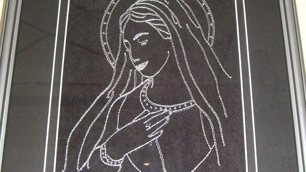 Uokvirena slika velika zlatovez Majka Božja