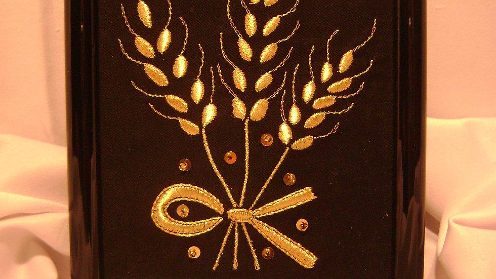 065 -  Ukovirena slika mala zlatovez motiv Žito