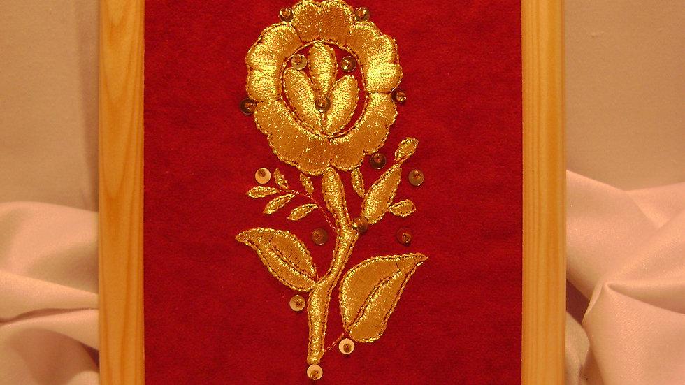 183 - Ukovirena slika mala zlatovez motiv s nošnje