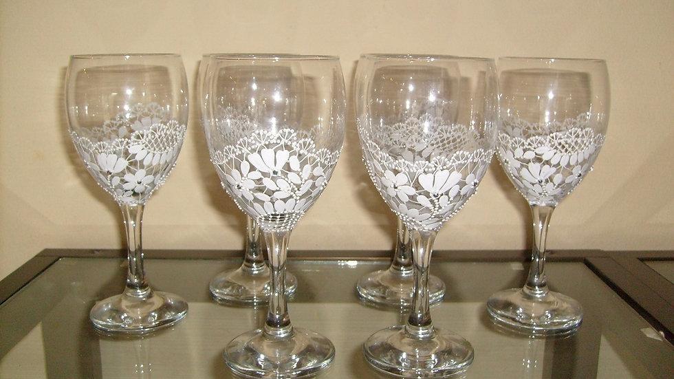 Oslikana čaša za vino motiv šlinga