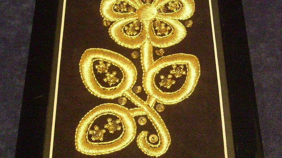 067 - Ukovirena slika mala zlatovez motiv s nošnje