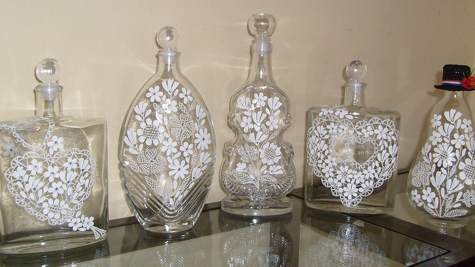 Oslikane boce, bočice, čokanji za svatove