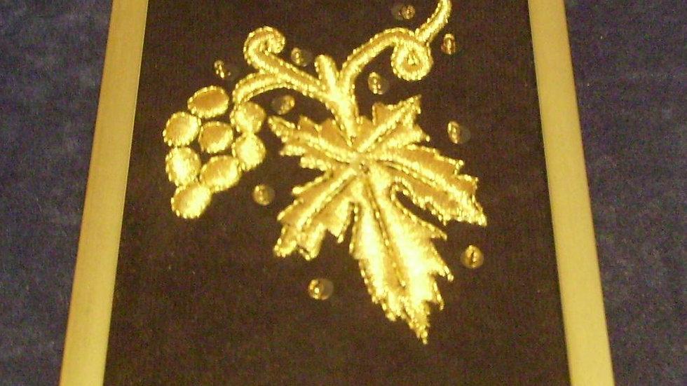 066 -  Ukovirena slika mala zlatovez motiv Grozd