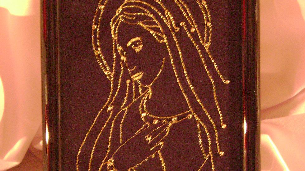 052 - Ukovirena slika mala zlatovez Majka Božja