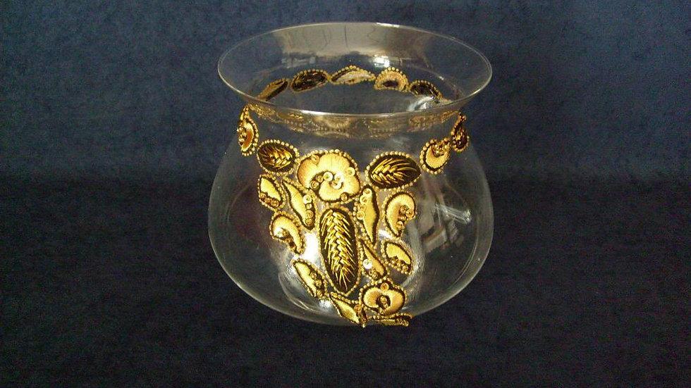 078 - Zdjela ukrašena zlatovezom