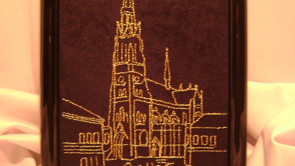 054 - Ukovirena slika mala zlatovez motiv Katedrala