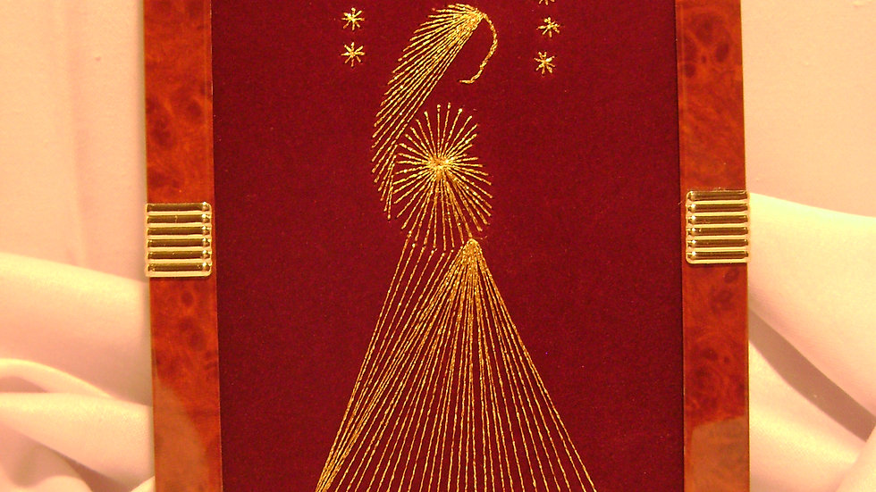 046 - Ukovirena slika mala zlatovez motiv Madona