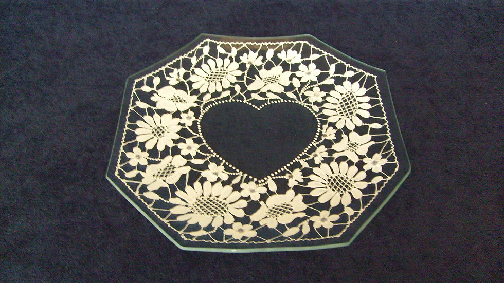 083 - Tanjur oslikan motiv šlinga