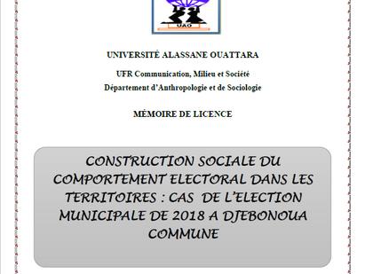 Construction sociale du comportement électoral  dans les territoires