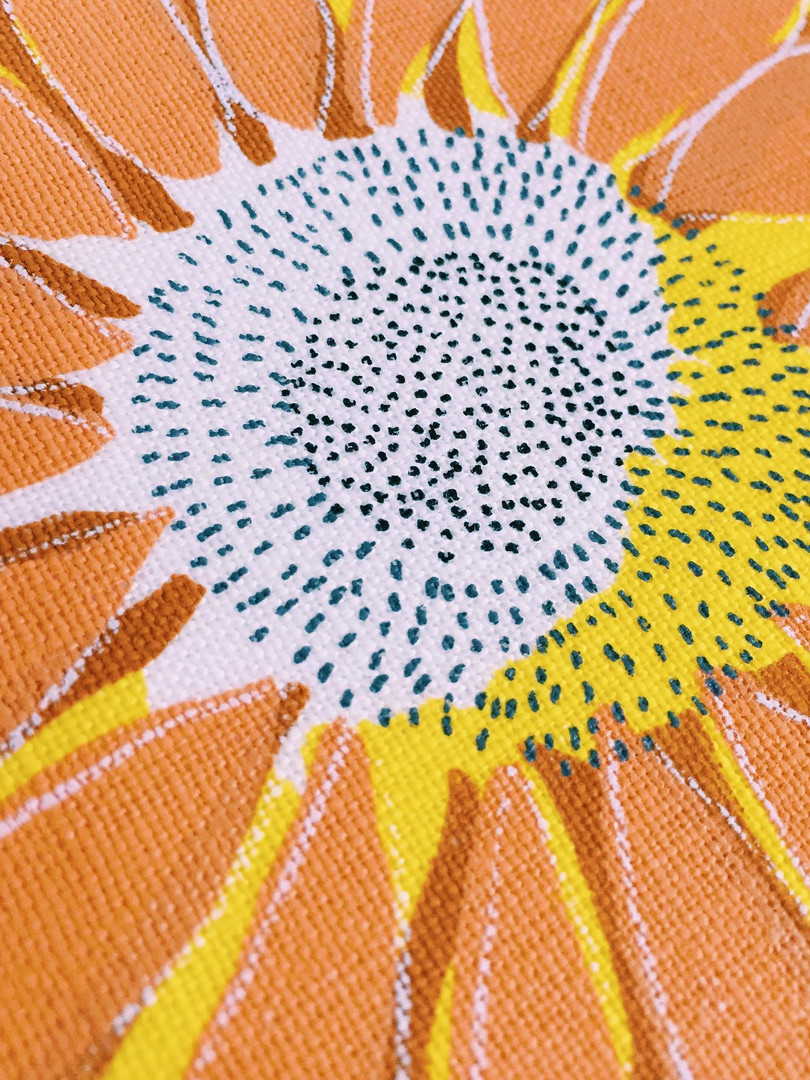 Sunflower 2019 on Thomas Ferguson Irish Linen