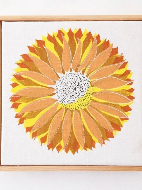 Sunflower 2019 on Thomas Ferguson Irish Linen.