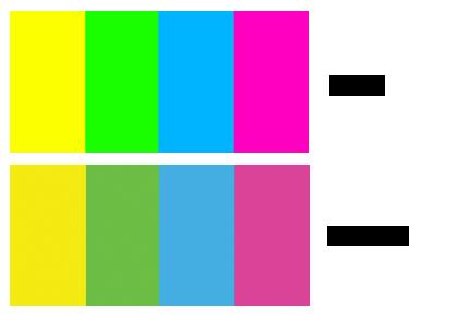 הבדל בין RGB ל-CMYK