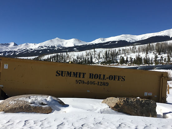 roll offs dumpsters in summit county colorado