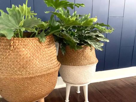 Easy DIY Planter Basket Stands