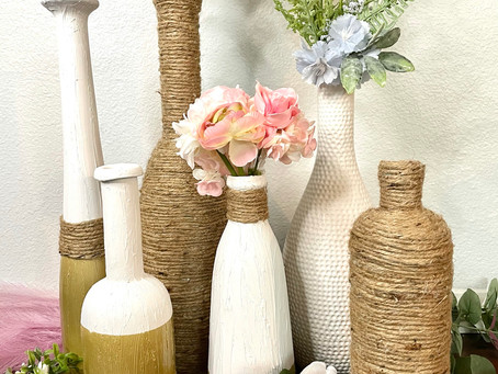Thrifted Vase Makeovers