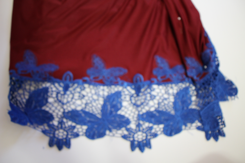 Pre-Order Burgundy/Blue Bali Butterfly {Jungle Flow Pant}