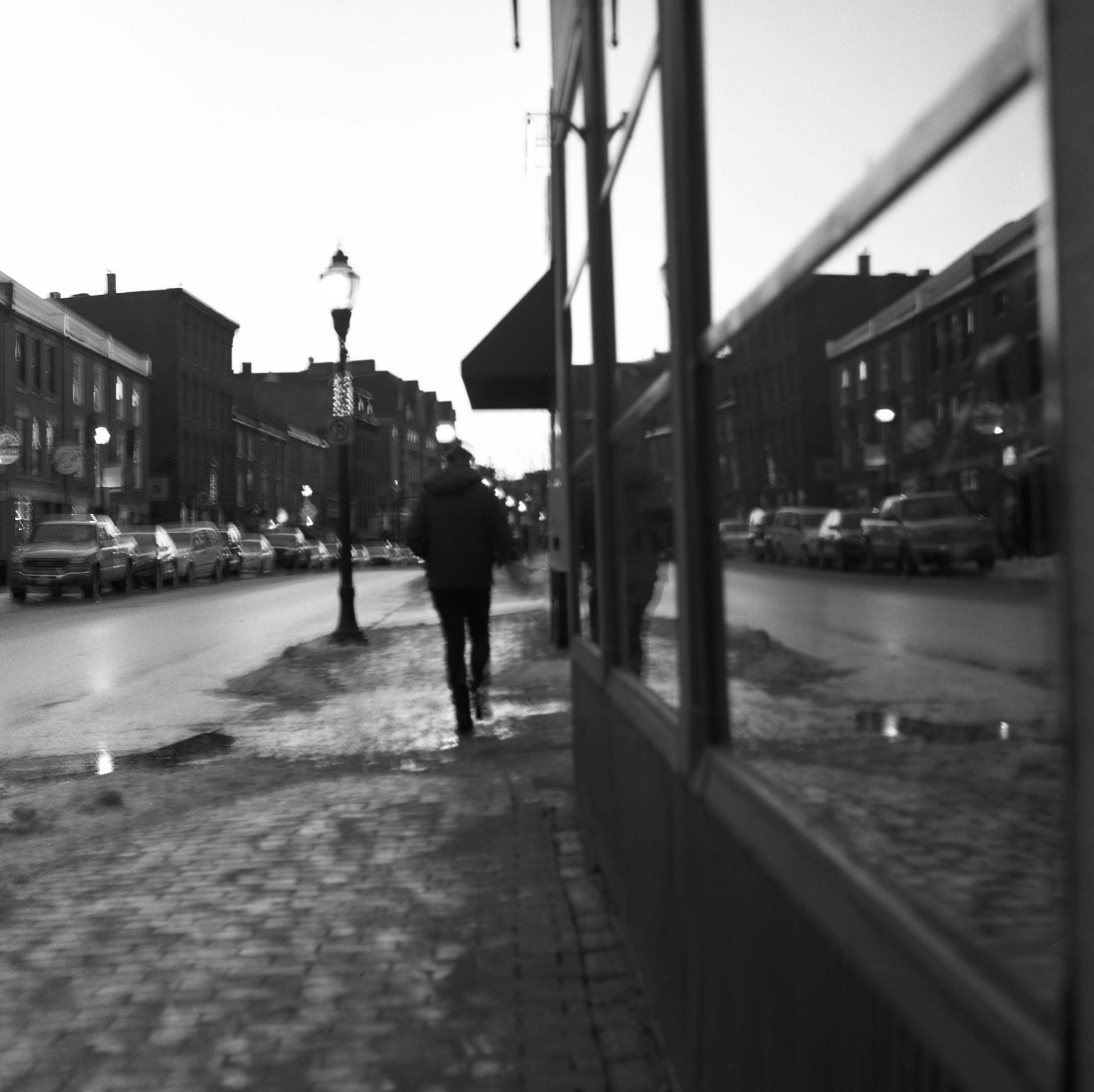 salted sidewalk