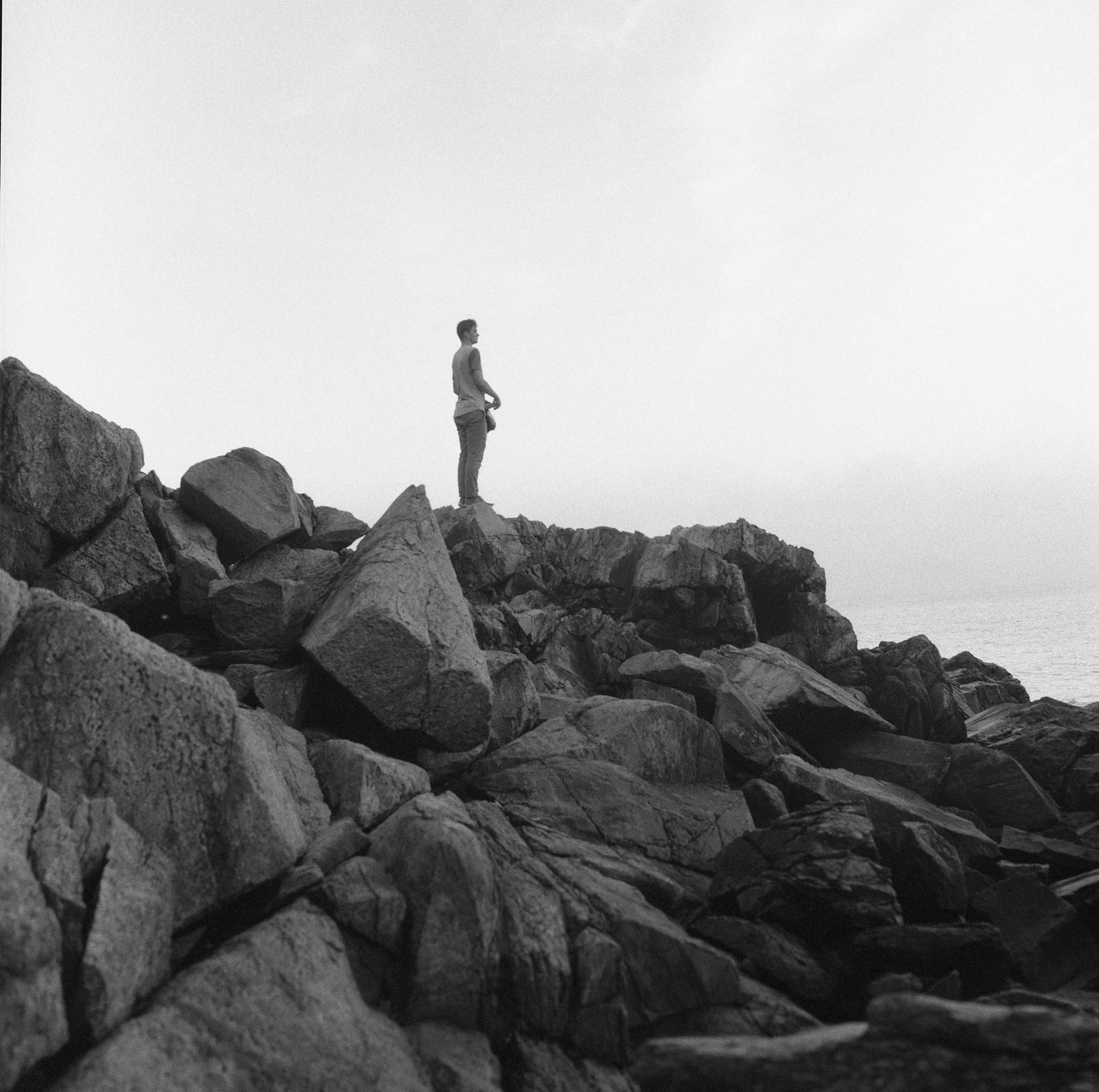 cody on rocks