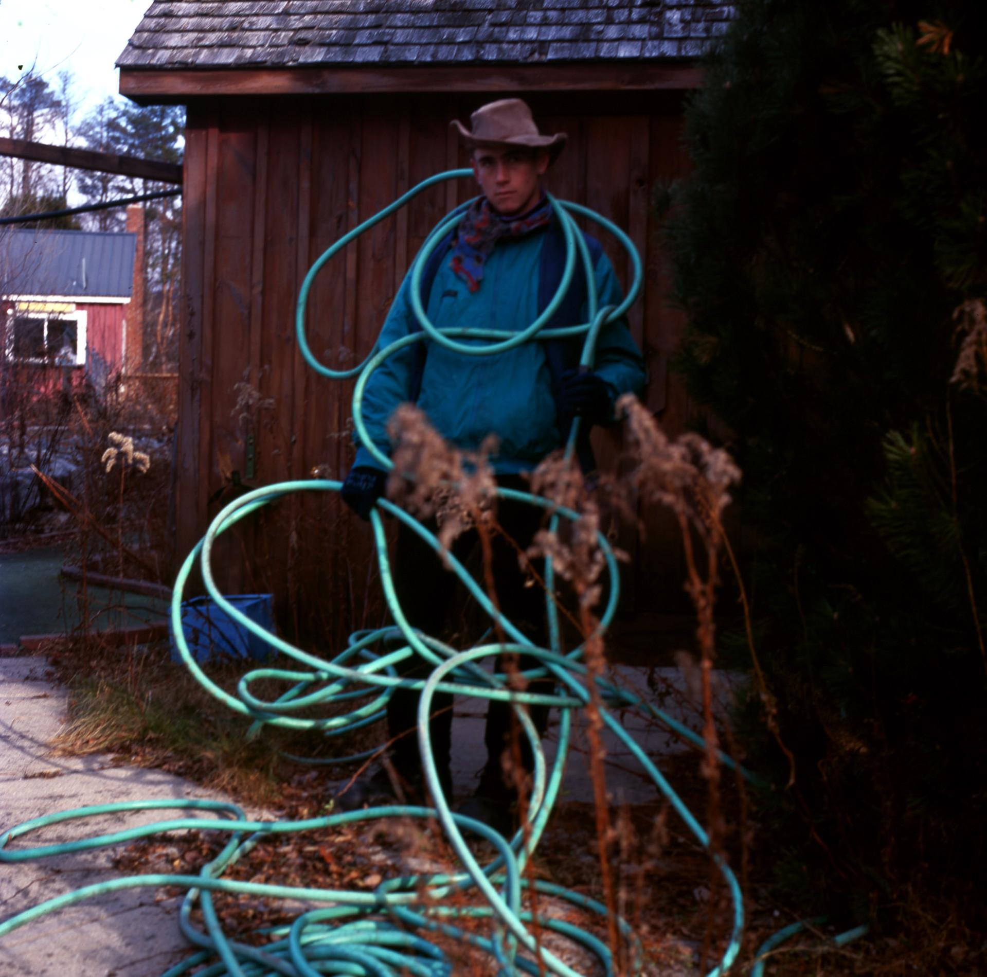 cowboy with hose