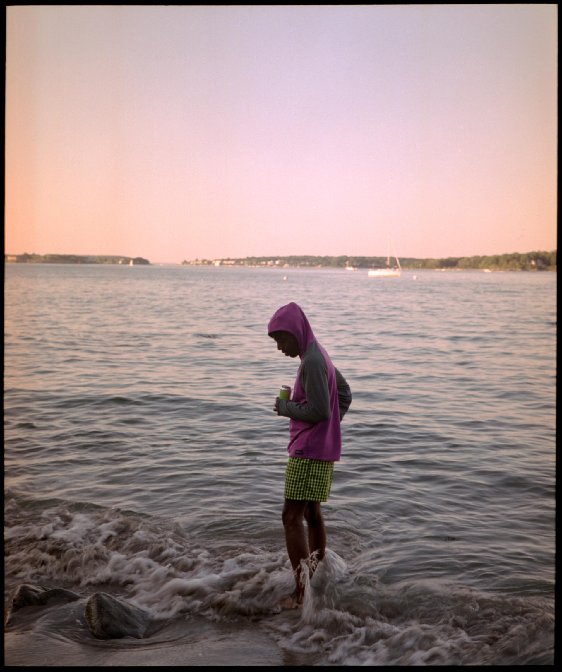 deion on beach