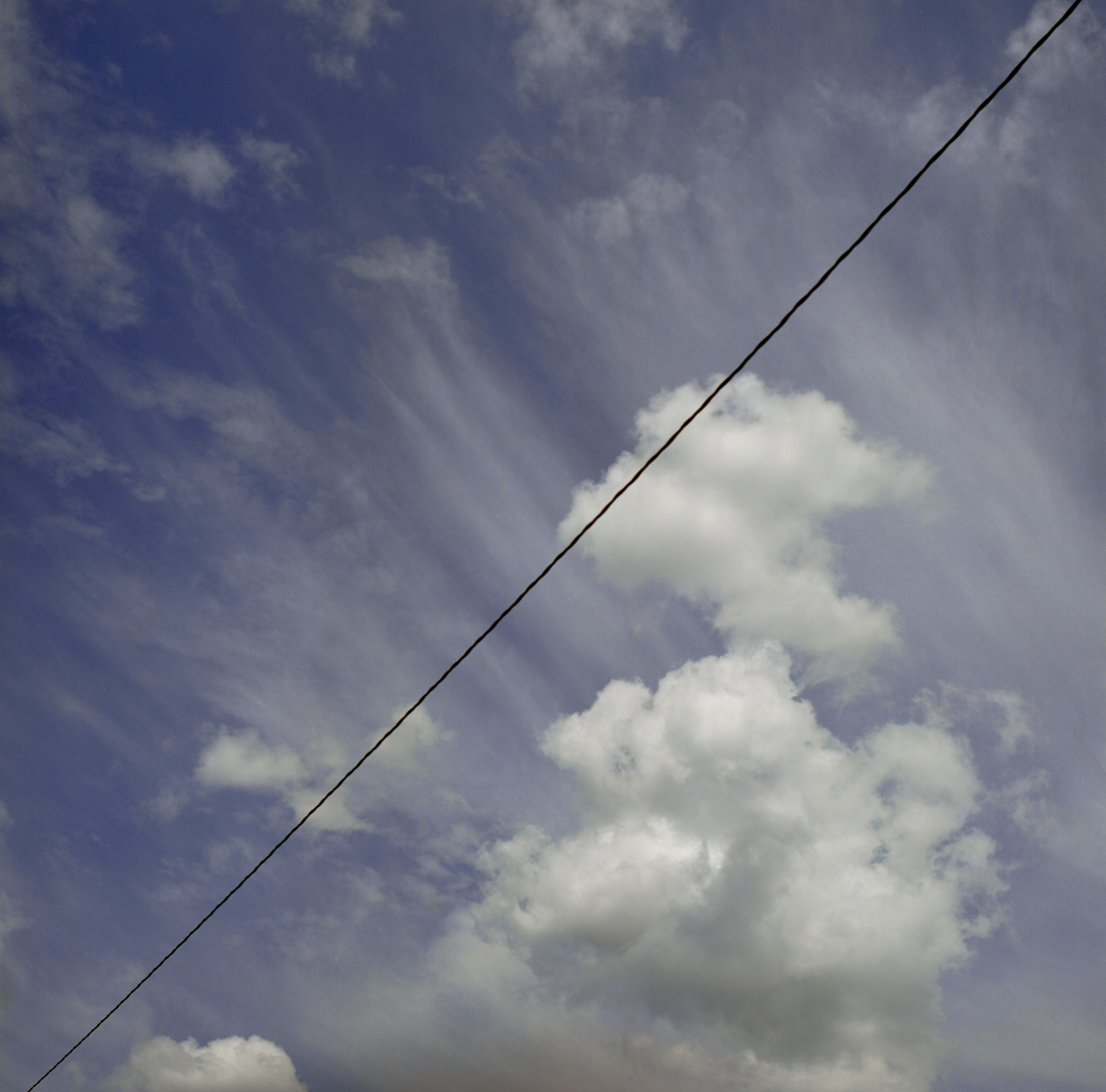 wire dissecting sky
