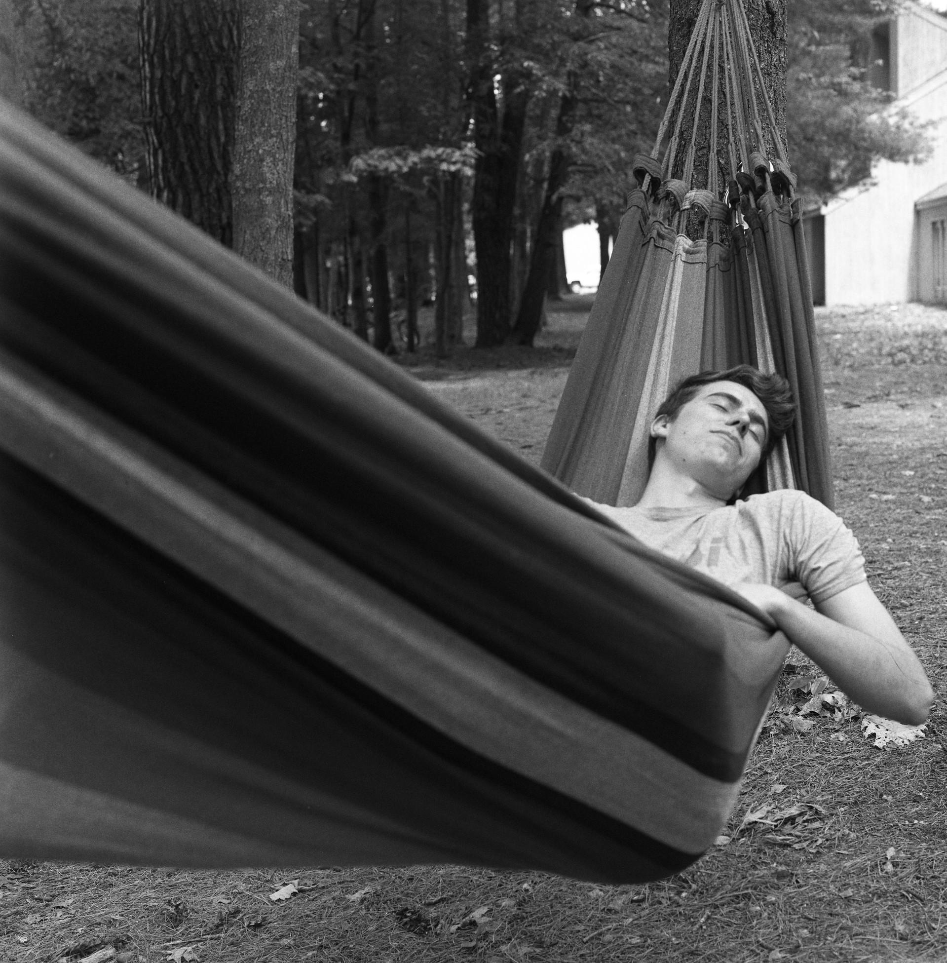 nick on hammock
