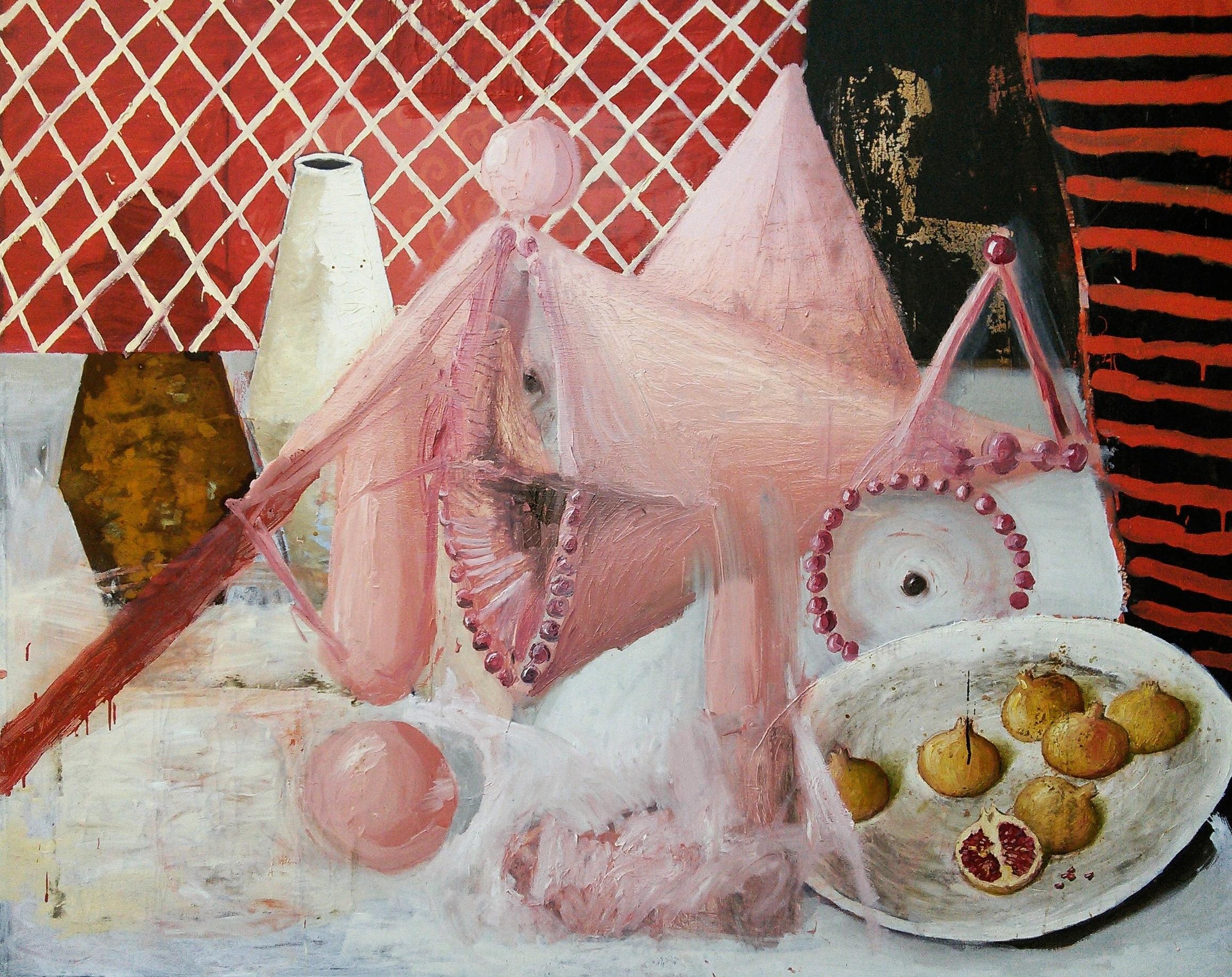 Stillife, Oil on canvas, cm162x130