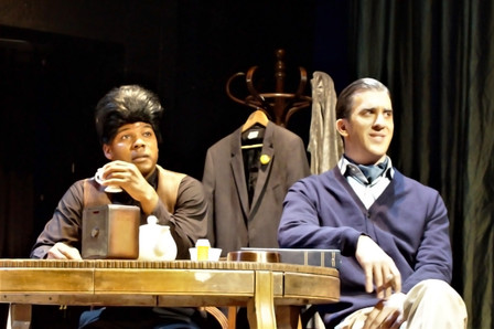 Dedrick Weathersby as James Brown and Ky
