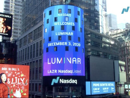 Orlando Startup Luminar begins public trading on Nasdaq as LAZR.