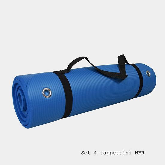 Set di 4 Tappetini fitness NBR mis.180x60x1
