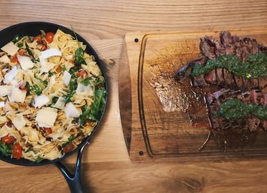 Steak met salsa verde