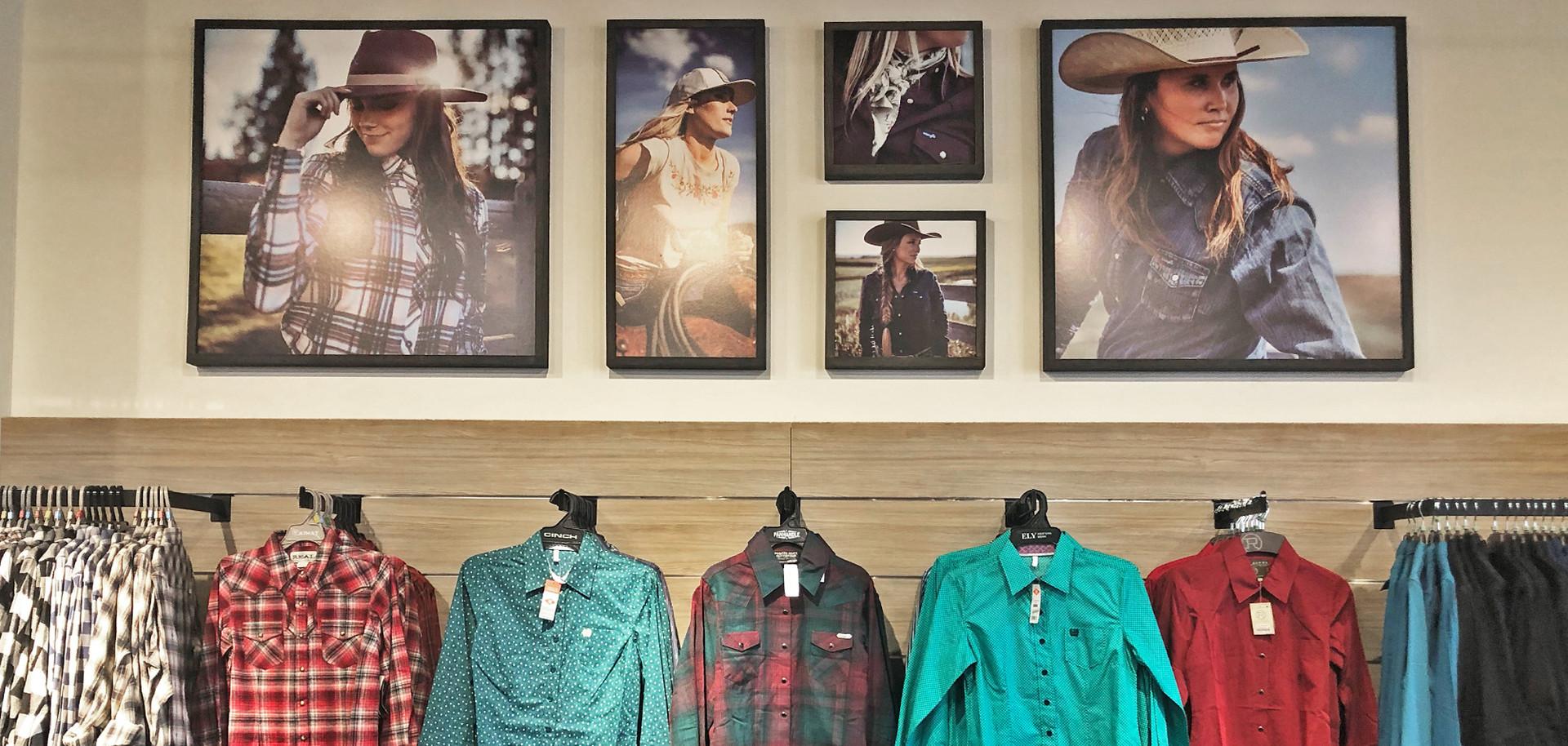 Lammle's women's shirt wall