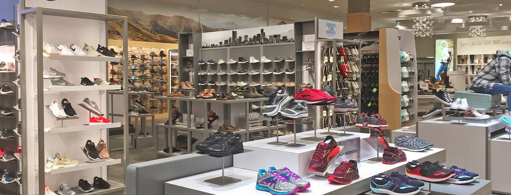 Scheels footwear floor fixtures