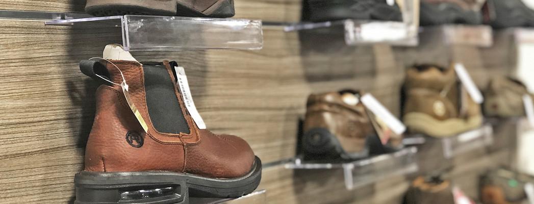 Shoe display wall